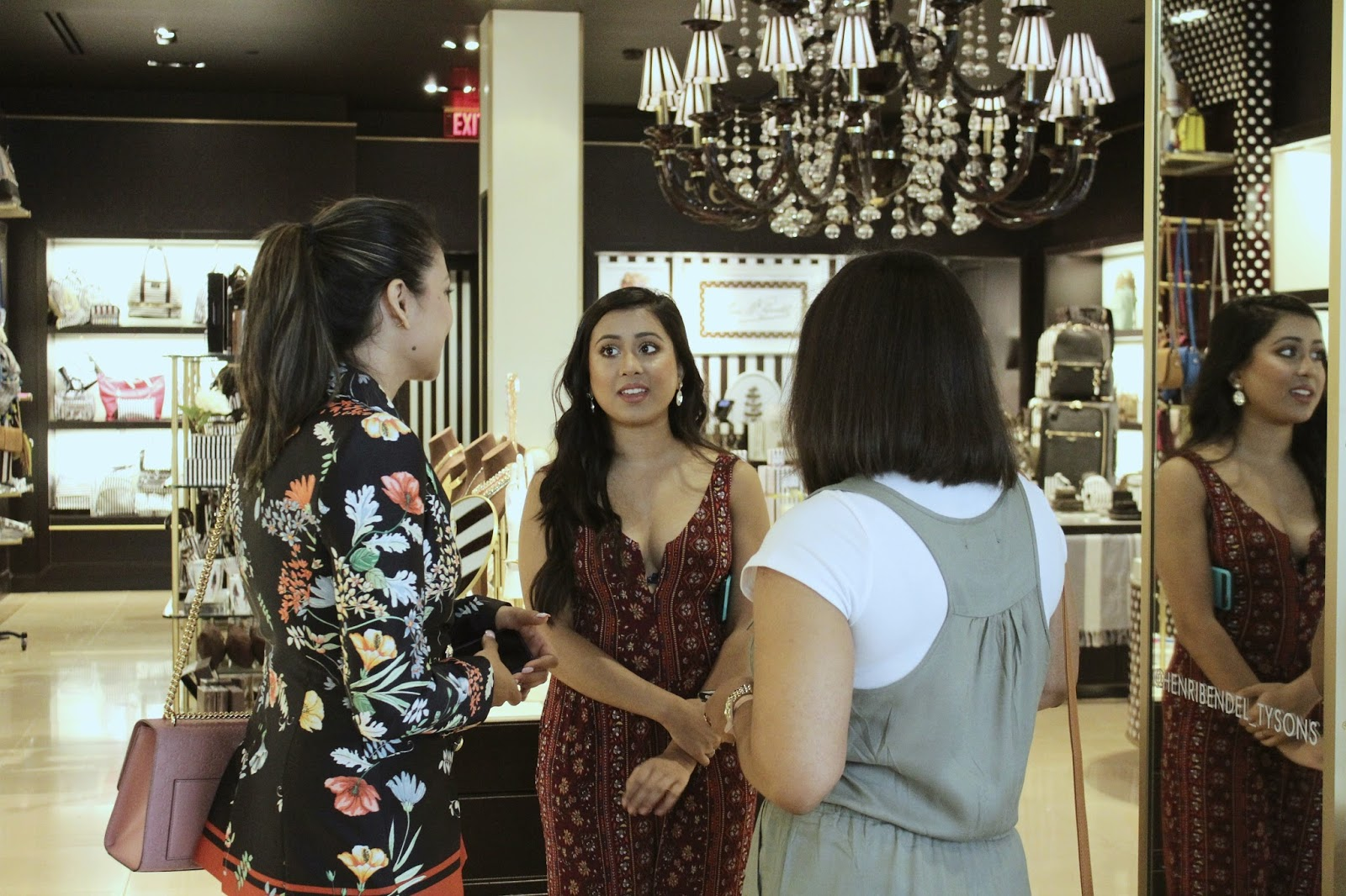 SHOPPING AT HENRI BENDEL, TYSONS CORNER MALL, fashion , retail therapy, bloggedrs event, style, pant suit, printed suit, myriad musings