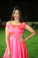 Actress Pujita Ponnada in beautiful red dress at Darshakudu music launch ~ Celebrities Galleries 031.JPG