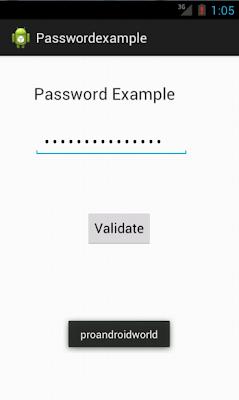 خانة كلمة المرور للأندرويد Android Password Field