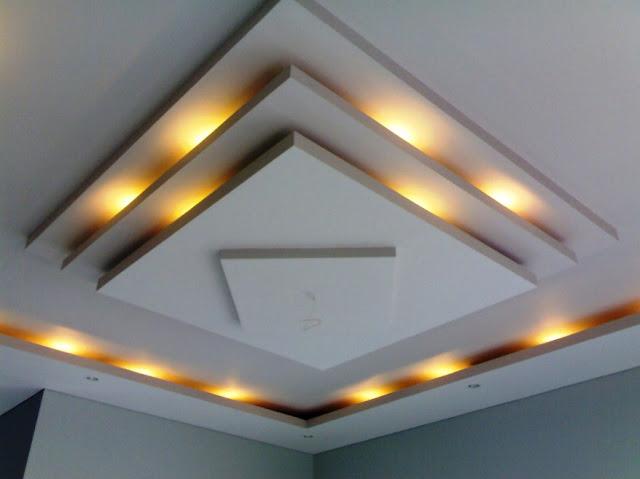 motif plafon ruang tamu minimalis