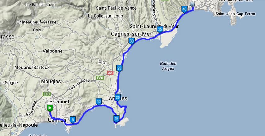 franska rivieran karta Resan mot Järnmannen: Cykling Franska Rivieran, Nice   Antibes  franska rivieran karta
