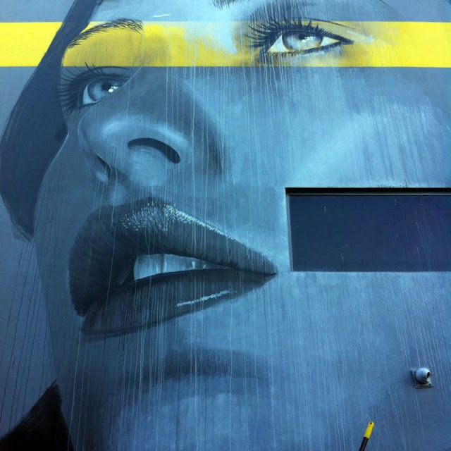 Work In Progress by Australian Street Artist RONE for Art Basel Miami 2013. 3