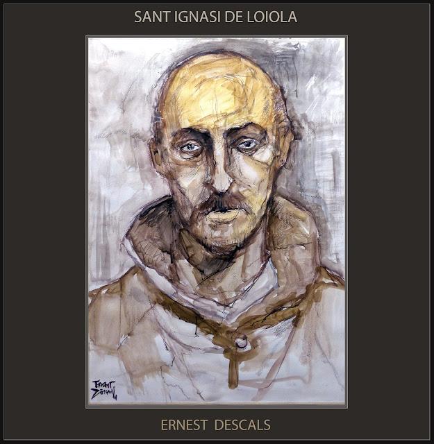 SANT IGNASI DE LOIOLA-PINTURA-ART-MANRESA-RUTA IGNASIANA-SAN IGNACIO DE LOYOLA-MISTICA-ARTISTA-PINTOR-ERNEST DESCALS-