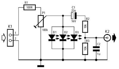 Noisy LEDs Circuit Diagram