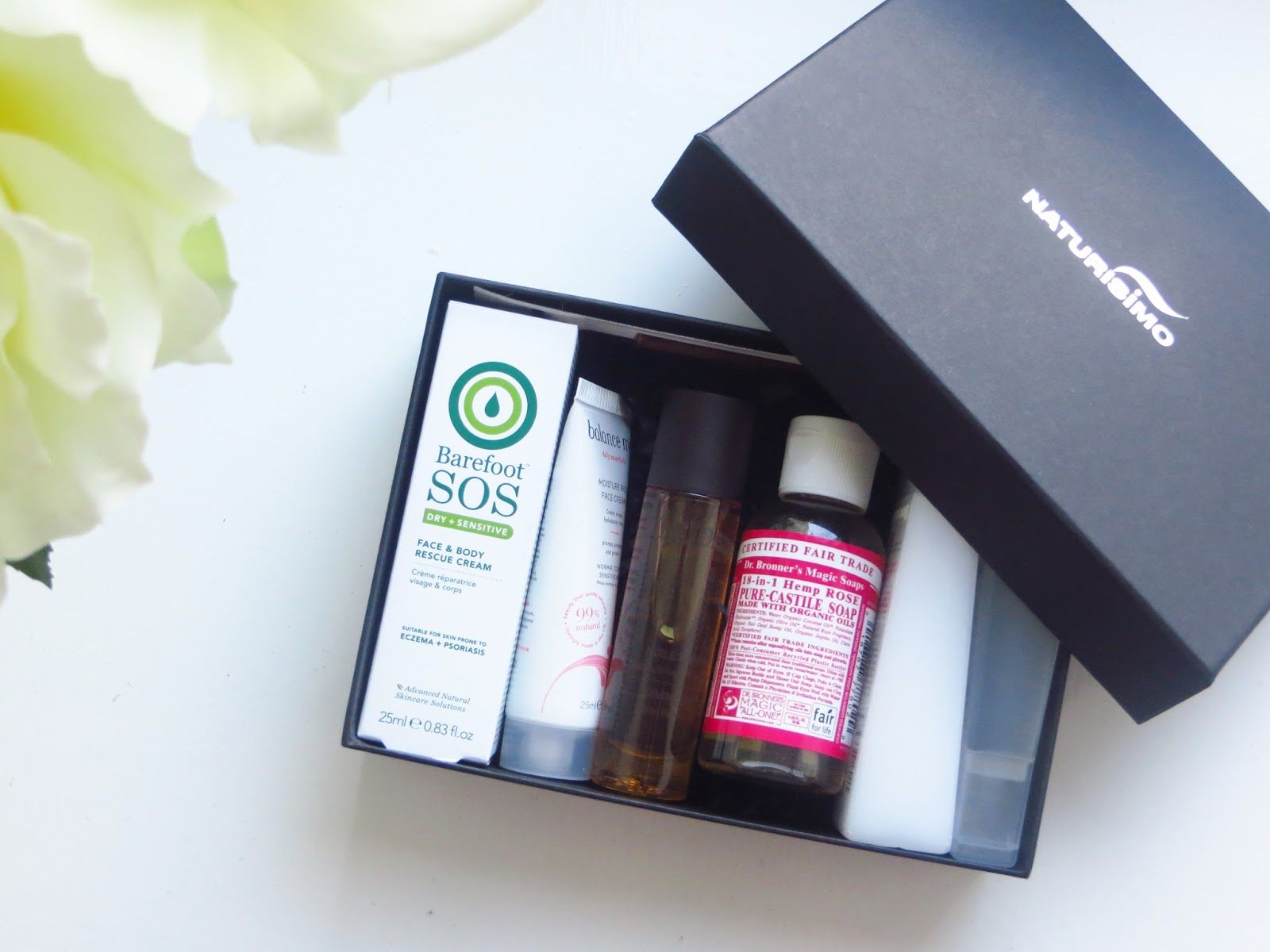 The latest discovery box from Naturisimo; Travel Essentials.