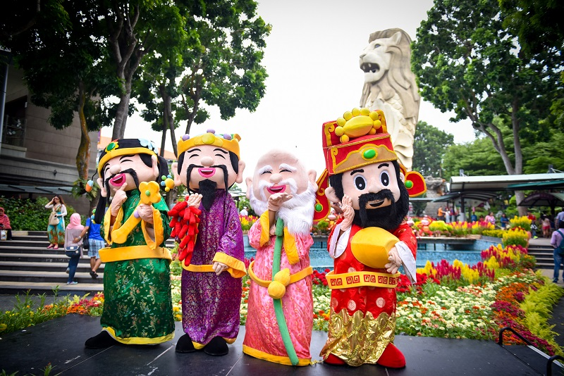 Enjoy a Love Story, Prosperity (福 Fú), Status (禄 Lù), Longevity (壽 Shòu) and Happiness this Springtime at Merlion Plaza