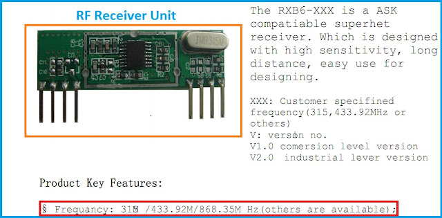 RF Module ( Wireless Radio Frequency ) Receiver Rx