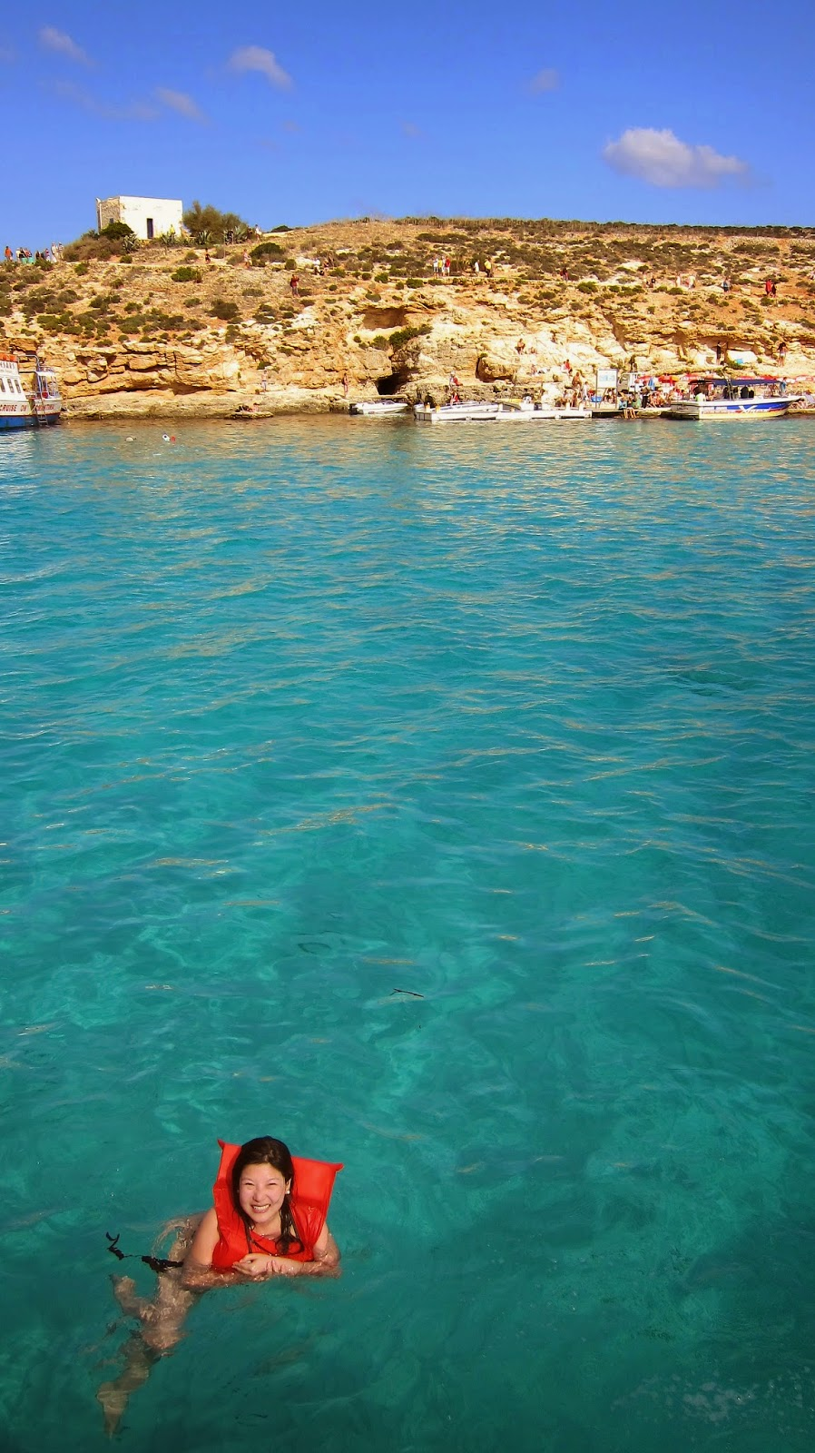 Swimming in the Blue Lagoon, Comino, Malta