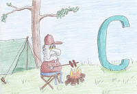 comic art, Campsite by the Sea