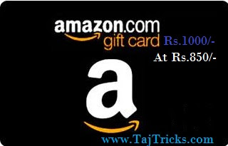 Amazon New Sale - Get Rs.1000 Email Gift Card at Rs.850 Only [Limited Offer][Promo - SAVEGC50]