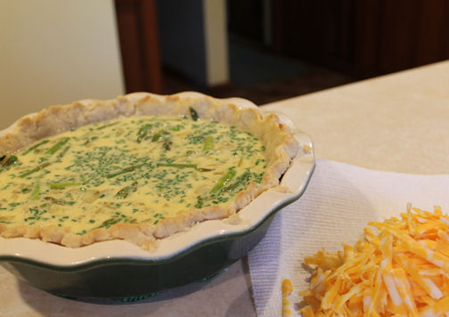 The Asparagus Quiche before Baking