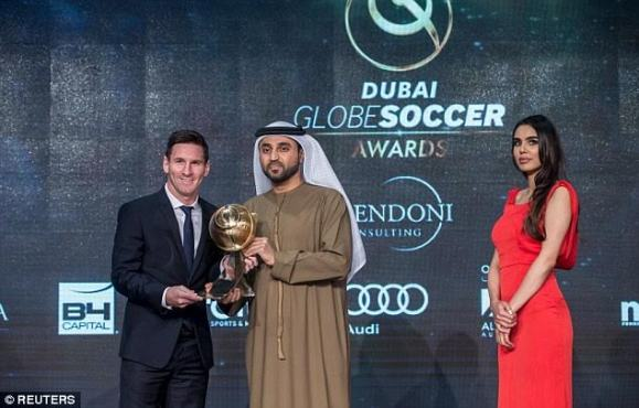 Lionel Messi wins Best Player of the Year award in Dubai ...