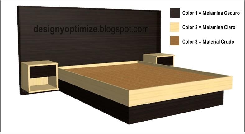Dise o de muebles madera fabricando cama moderna en for Planos para muebles de melamina
