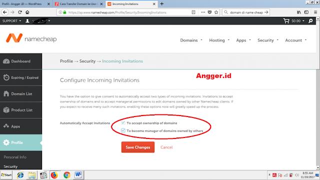 Panduan transfer domain di namecheap (sesama user)