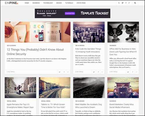 Enpine Free Blogger Template