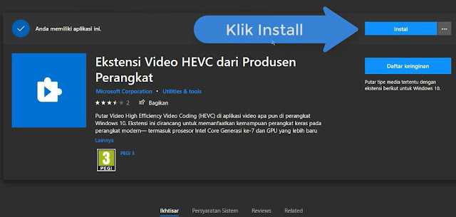 Cara Membuka FIle Video x265 atau H.265/HEVC di Windows 10 (Support Movies & TV)