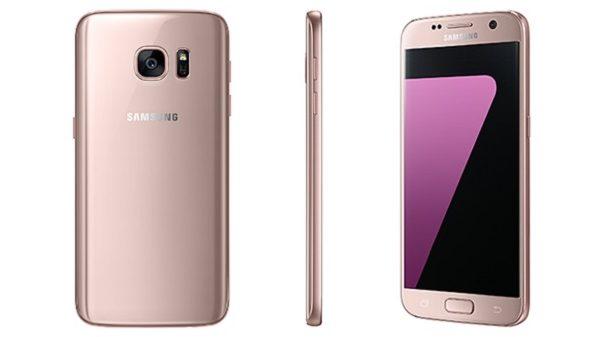 سامسونج تطلق نسخة باللون الذهبي الوردي من هاتفيها Galaxy S7 و S7 Edge