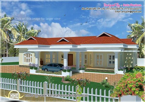 Beautiful bungalow elevation