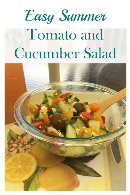 This easy tomato and cucumber salad is the perfect side dish for any summer BBQ.