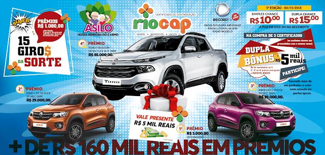 Imagem com a premiação do Rio Cap - 11/11/2018