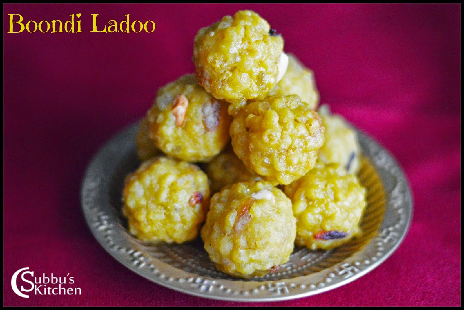 Laddu Recipe | Boondi Ladoo Recipe