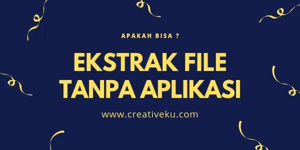 Ekstrak File RAR, ZIP, ISO di Android Tanpa Aplikasi