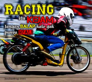 Gambar DP BBM Kata2 Anak Racing