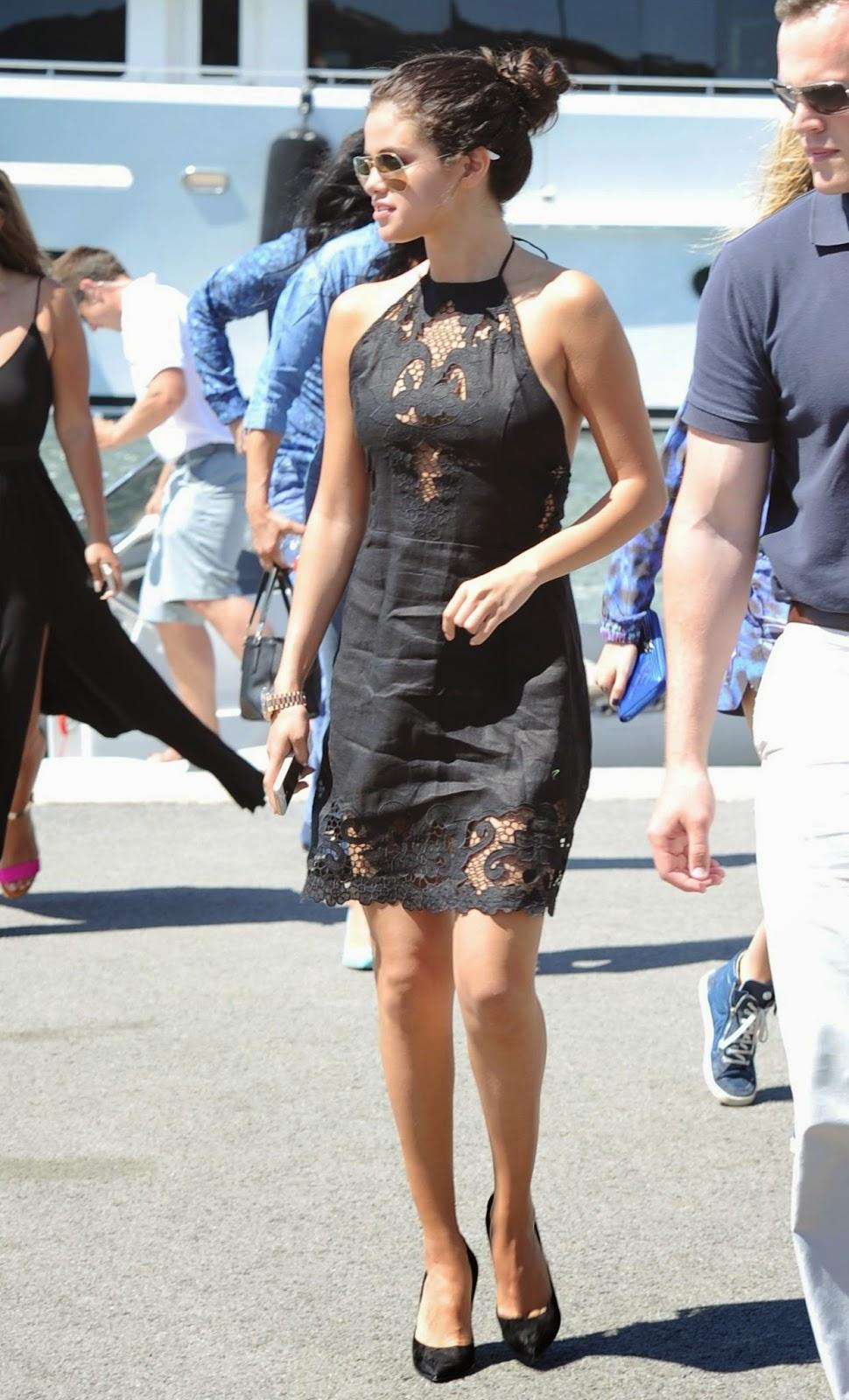 Selena Gomez Takes A Boat Ride In A Zimmermann Dress In