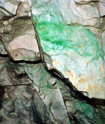 rough jadeite and serpentinite