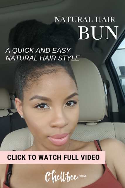 Natural Hair | Learn how to create this effortless bun. This style is works great on stretched natural hair. #naturalhair #naturalhairstyles
