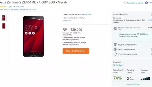 Smartphone Android RAM 4GB ini Cuma Sejutaan