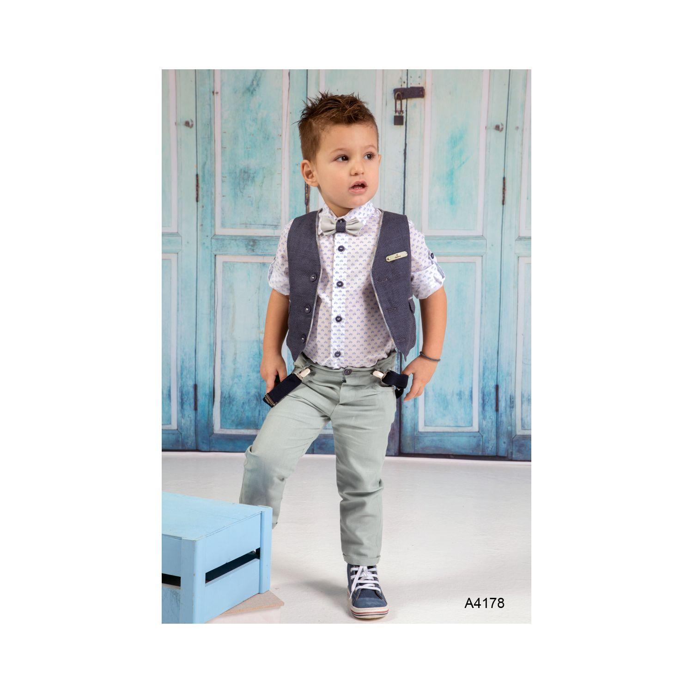 bd8f46f80e3 Καλοκαιρινά βαπτιστικά ρούχα για αγόρι Α4178 | preciousandpretty.gr