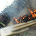 Jungle Justice: Armed Robber Burnt to Death by Angry Mob in Lagos (PHOTOS)