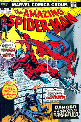 Amazing Spider-Man #134, Tarantula, first appearance, attacks Spider-Man on a boat