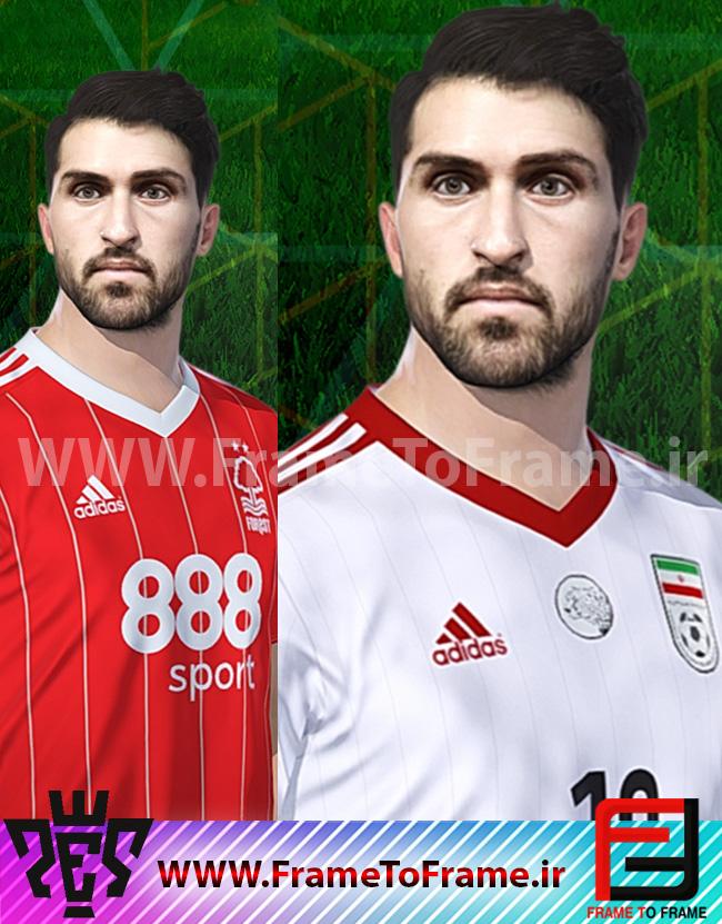 PES 2018 Karim Ansarifard Face + MiniFace by H.Ashkani