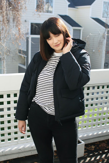 Winter, puffer jacket, Everlane, Vegan, Style, OOTD, WIWT, coat, fbloggers, Fashion