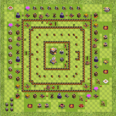 War Base Town Hall Level 11 By Dipocinta (Luas TH 11 Layout)