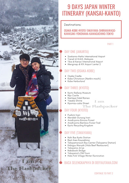 9 days Japan Winter Itinerary: Kansai - Kanto