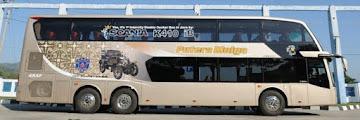 Daftar Tarif dan Rute Bus Tingkat AKAP Terbaru