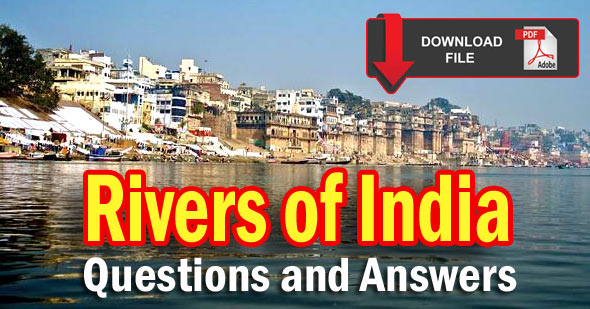 100 Improtant GK Questions & Answers on Rivers of India in Hindi