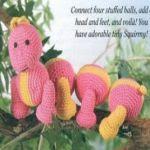 patron gratis gusano amigurumi | free pattern amigurumi worm