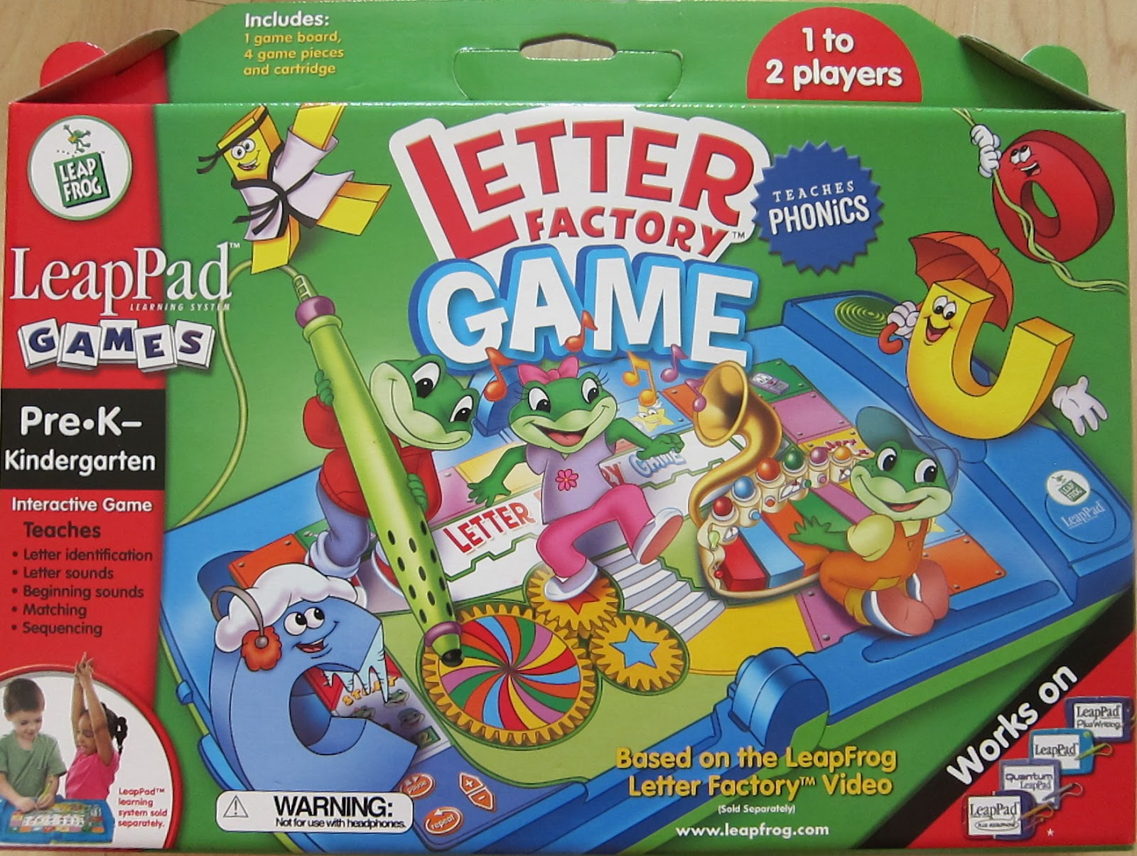 Things to Sell: LeapPad Game Cartridge : Letter Factory Game