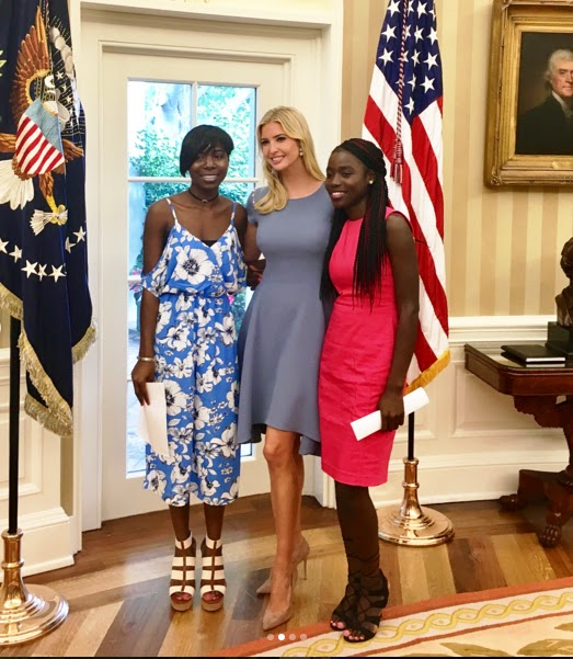 I' m Honored to have welcomed Joy and Lydia, two of the Chibok Girls - Ivanka Trump