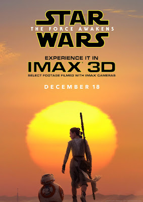 Star Wars: The Force Awakens IMAX 3D Theatrical One Sheet Teaser Movie Poster