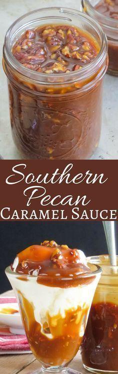 Southern Pecan Caramel Sauce