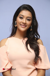 Actress Pooja Jhaveri Pictures in Jeans at Dwaraka Movie First Look Launch  0008
