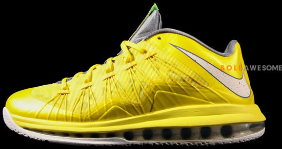5f40e464c68f1b Nike Air Max Lebron X Yellow Grey Sail Yellow Lebron X Foot Locker ...