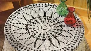Mantel redondo al crochet / Esquema crochet