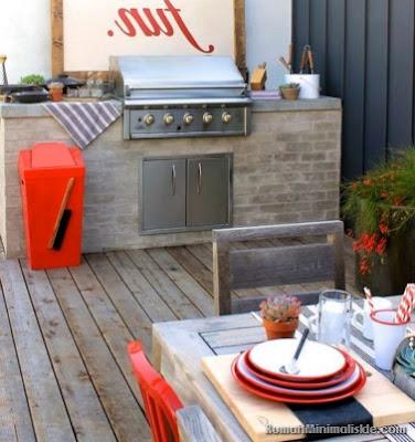 dapur rumah minimalis dengan taman