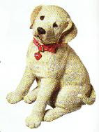 lifesize yellow lab puppy figurine sandicast statue